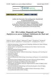 S2k + IDA Leitlinie: Diagnostik und Therapie ... - AWMF