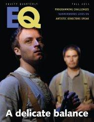 1637-EQ Fall 11 MAG NEW.indd - Canadian Actors' Equity Association