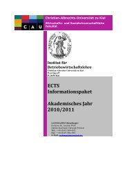 ECTS Informationspaket Akademisches Jahr 2010/2011