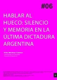 HABLAR AL HUECO: SILENCIO Y MEMORIA EN LA ... - 452ºF