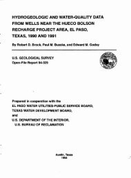 hydrogeologic and water-quality data from wells near the ... - USGS