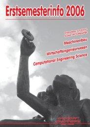 Erstsemesterinfo 2006 - Fachschaft Maschinenbau