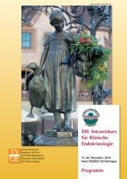 XIII. Intensivkurs für Klinische Endokrinologie Programm - Deutsche ...