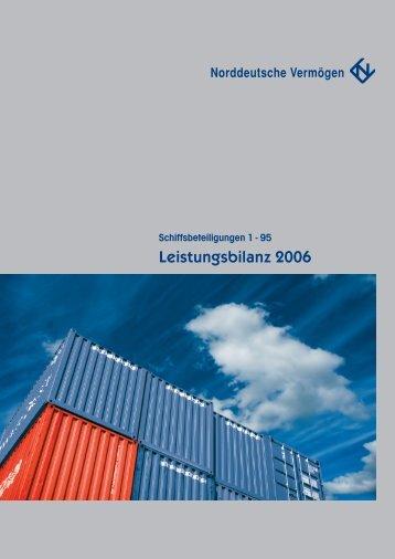 Leistungsbilanz 2006 - Norddeutsche Vermögen Holding