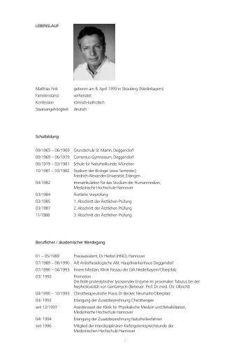 lebenslauf arbeitsgemeinschaft interdisziplinre medizin hannover - Lebenslauf Berufseinsteiger