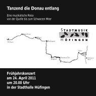 Tanzend die Donau entlang - Stadtmusik Hüfingen