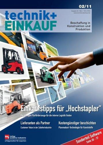 Ausgabe 2 / 2011 - technik + EINKAUF