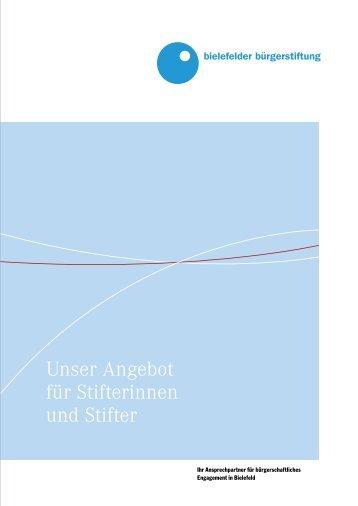 Unser Angebot für Stifterinnen und Stifter - Bielefelder Bürgerstiftung