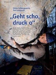 Kletter-Schwergewicht Toni Lamprecht - Deutscher Alpenverein