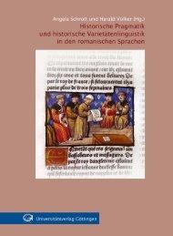 Historische Pragmatik und historische Varietätenlinguistik ...