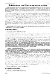 Erläuterungen zum Zeichnungsnummernsystem: - HTL Wien 10