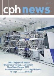 Qveloteam interviewt Schwimmer - CPH Chemie + Papier Holding AG