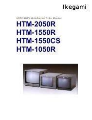 HTM-2050R HTM-1550R HTM-1550CS HTM-1050R - Ikegami