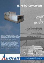 HTM-03 Compliant Hospital Air Handling Units - AirCraft Air ...