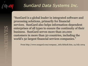 SunGard Data Systems Inc. Title Page