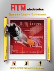 Download Safety Light Curtain Catalog (3.65MB .pdf - HTM Sensors