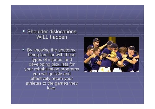 Acute Shoulder Dislocations. - Fisiokinesiterapia.biz