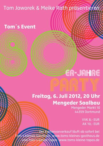 80er-Jahre-Party