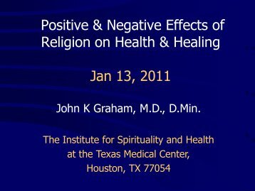 Positive & Negative Effects of Religion on Health - Institute for ...