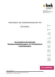 Handwerksleistungen in Liechtenstein