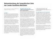 Bekanntmachung der baupolitischen Ziele des Landes Nordrhein ...