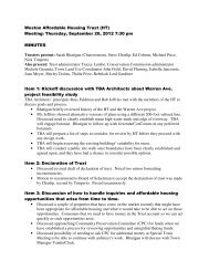 Weston Affordable Housing Trust (HT) Meeting ... - Town of Weston