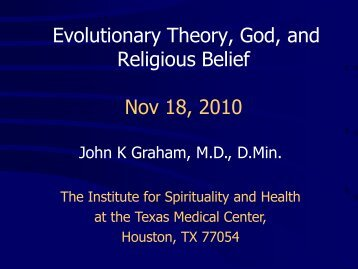 Evolution and the Science-Religion Debate - Institute for Spirituality ...