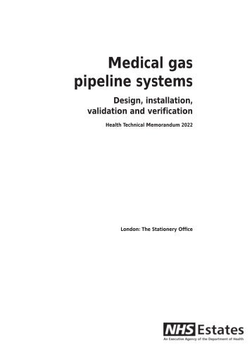 HTM 2022 Medical gas pipeline systems: Design, installation ...