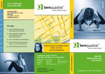 Wels - Lernquadrat