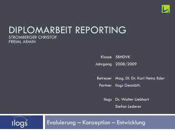 Diplomarbeit Reporting