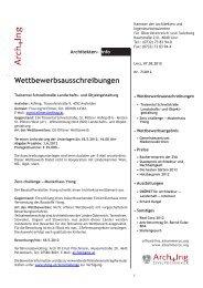 ArchInfo 7/2012 - Kammer der Architekten und Ingenieurkonsulenten