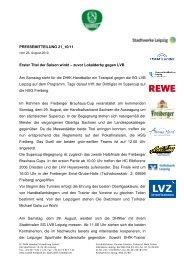 Pressemitteilung 21 - SC DHfK Leipzig eV