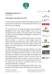 Pressemitteilung 84 - SC DHfK Leipzig eV