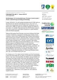 Pressemitteilung 18 - SC DHfK Leipzig eV