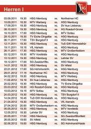 Spielplan 2011 - HSG Nienburg