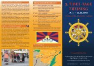 Programm-Flyer der Freisinger Tibettage - Tibet Initiative ...