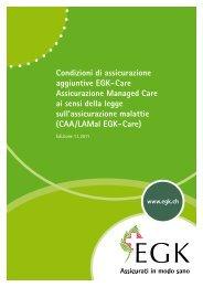 Condizioni di assicurazione aggiuntive EGK-Care Assicurazione ...