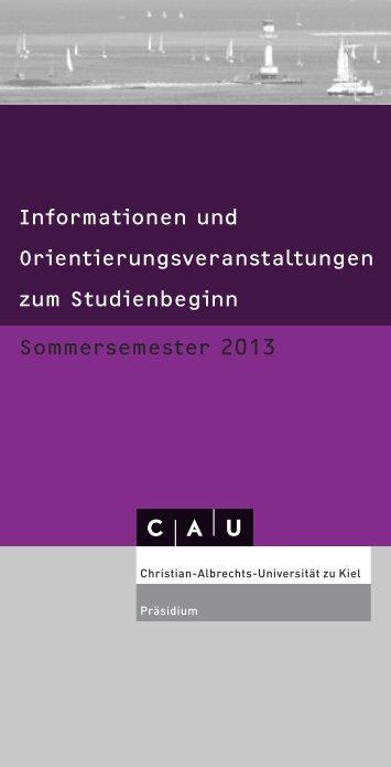 Informationen und Orientierungsveranstaltungen zum Studienbeginn