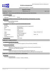 EG-Sicherheitsdatenblatt - EGO - Dichtstoffwerke