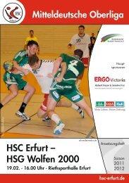 HSC Erfurt – HSG Wolfen 2000