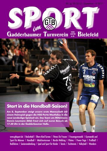Ausgabe September 2012 - Gadderbaumer Turnverein v. 1878 eV ...