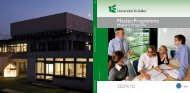 2009/10 Master-Programme - School of Business, University of ...