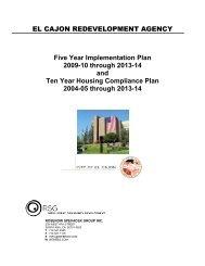 Five Year Implementation Plan - City of El Cajon
