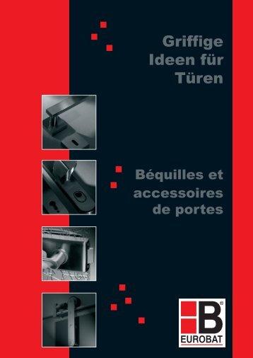 """Eurobat Katalog """"Griffige Ideen für Türen"""" v11/2008"""