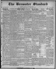 Brewster, NY - Northern New York Historical Newspapers