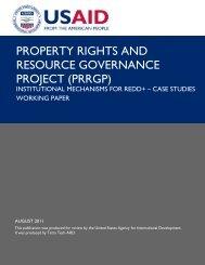 Institutional Mechanisms for REDD+ - Case Studies Working Paper
