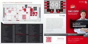 OUTPUT- MANAGEMENT - Messe Stuttgart