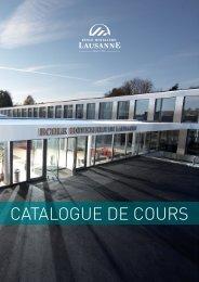 EHL Catalogue de Cours 2011-2012 - Ecole Hôtelière de Lausanne