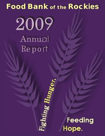Annual Report - Food Bank of the Rockies - Convio