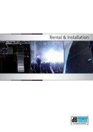 Rental & Installation - dB TECHNOLOGIES
